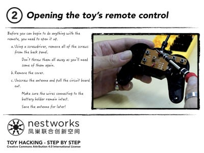 Opening the Toy's Remote Control