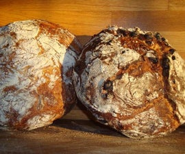 No-Knead Rustic Raisin Bread