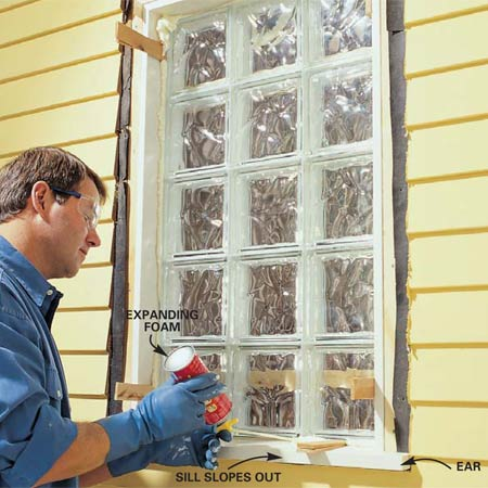 How To Install A Glass Block Window 5, How To Install Glass Block Windows In Bathroom