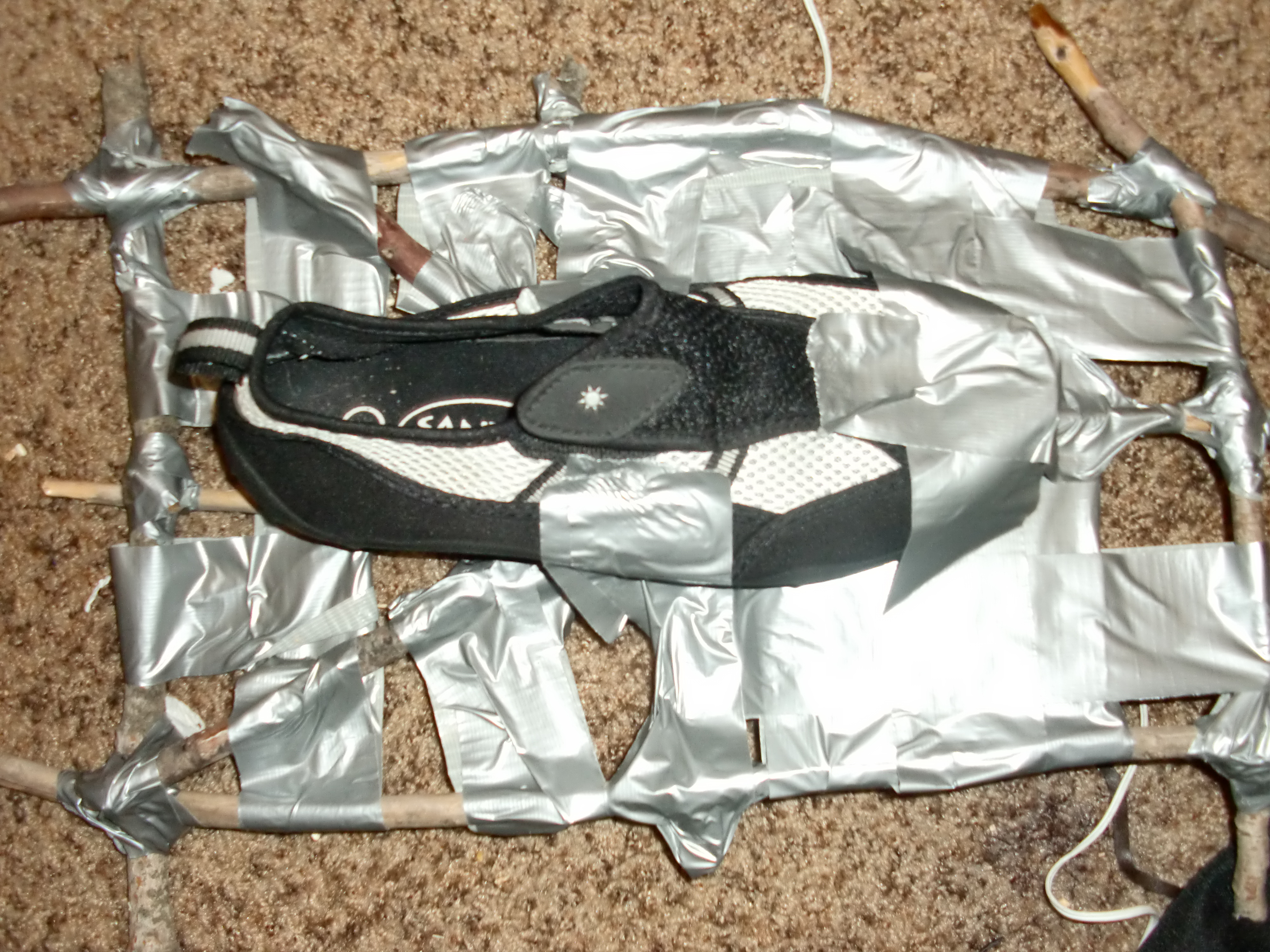 Duct Tape Snow Shoes