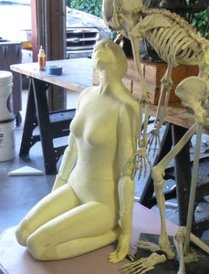 Bringing the Female and the Skeleton Statue Together