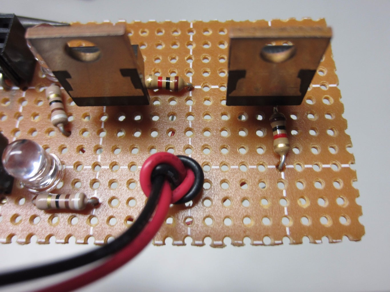 Solder on External Power Supply Wires