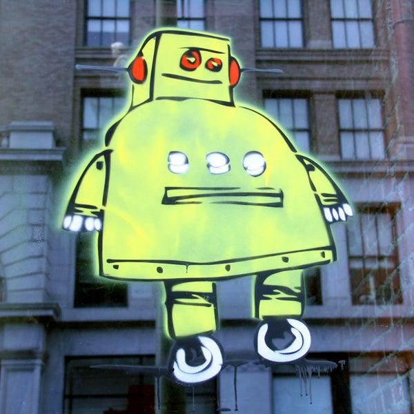 Laser Cut Robot Stencil
