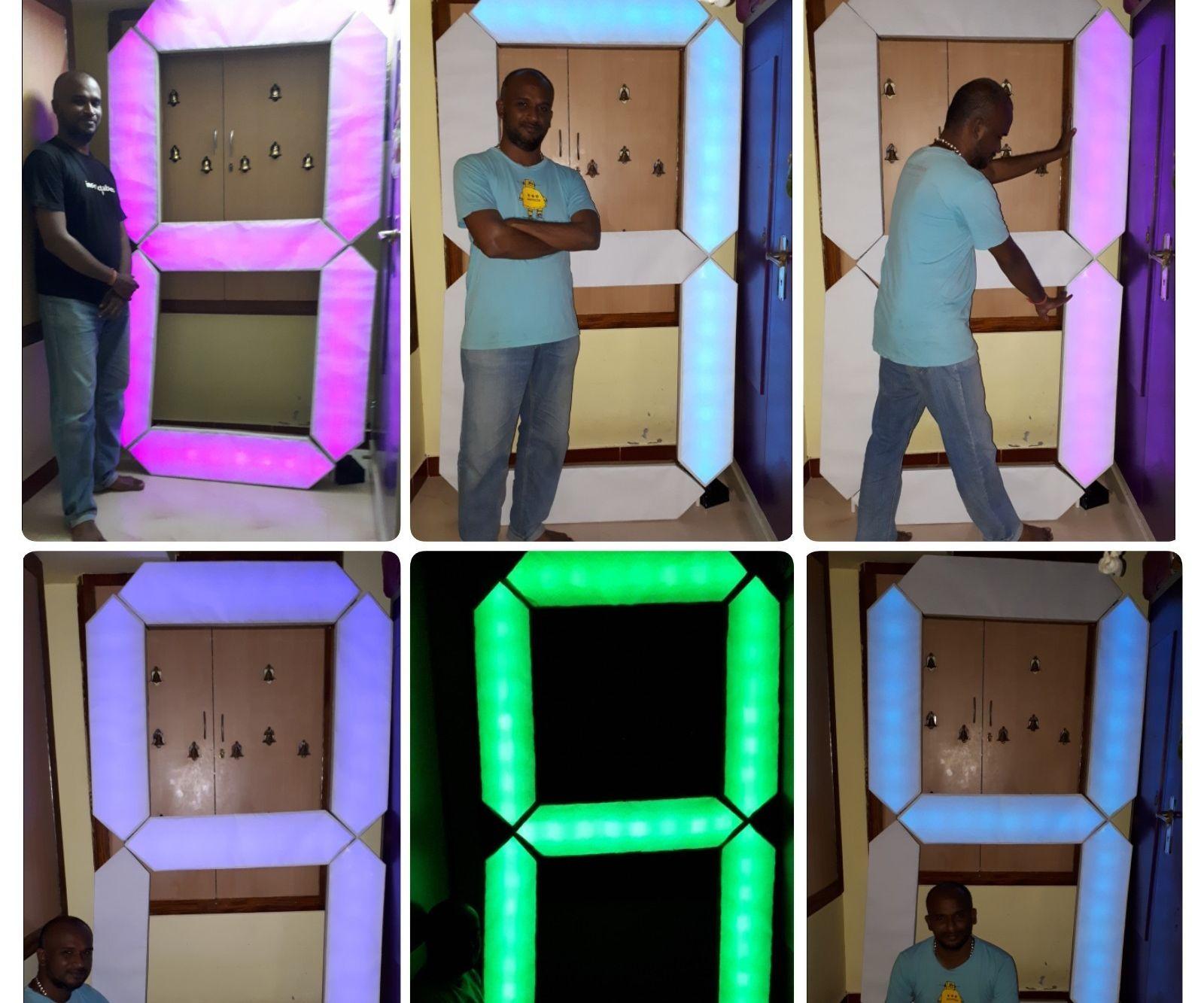 7 Feet 7 Segment Display With BT App