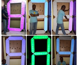 7 Feet 7 Segment RGB Display With BT App