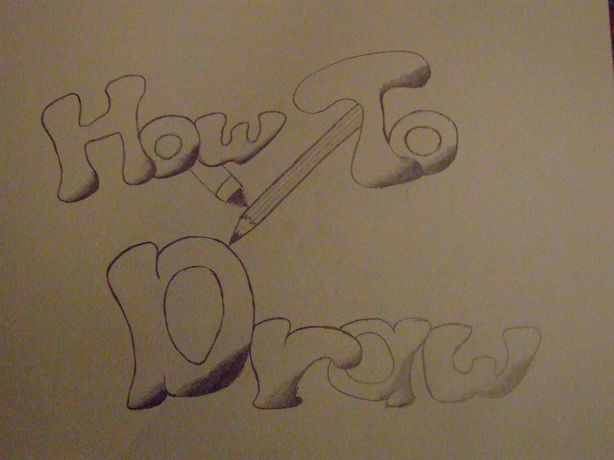How to Draw (well part one)
