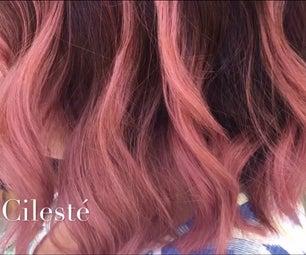 粉红色的balayage ombre头发颜色