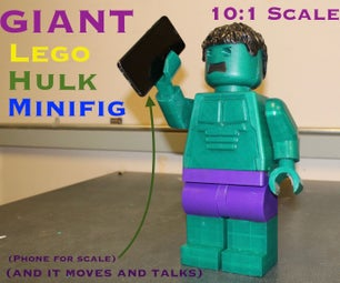 Moving and Talking Giant Lego Hulk MiniFig (10:1 Scale)