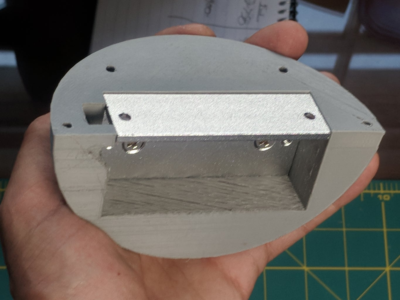 Print and Fit Bottom Half of Lock