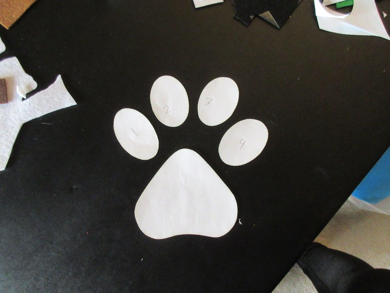 Cut Out Paw Print