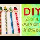 DIY: CUTE Garden Stakes