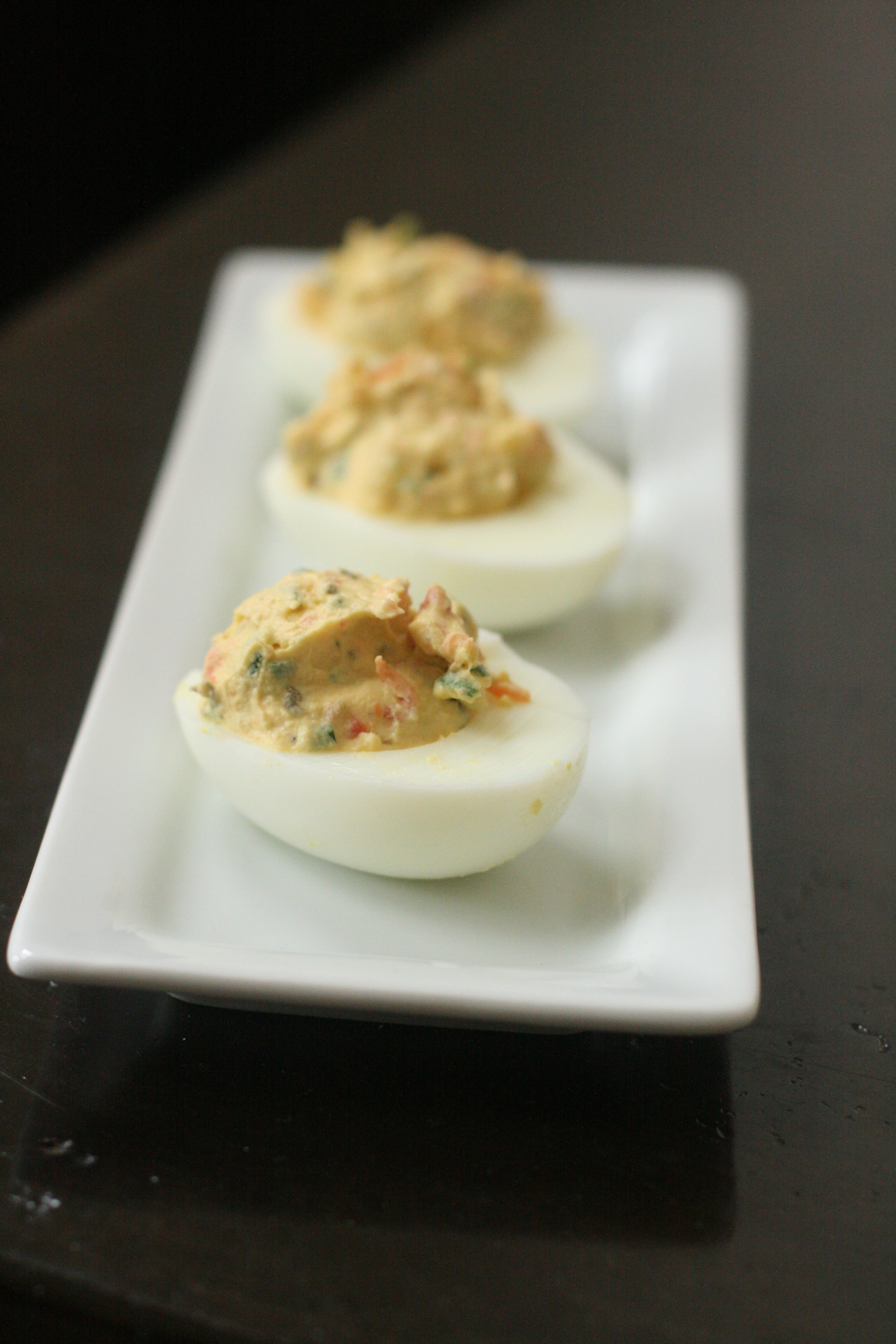 Deviled Eggs with Smoked Salmon and Capers