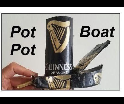 Guinness Pot Pot Putt Putt Steam Candle Boat