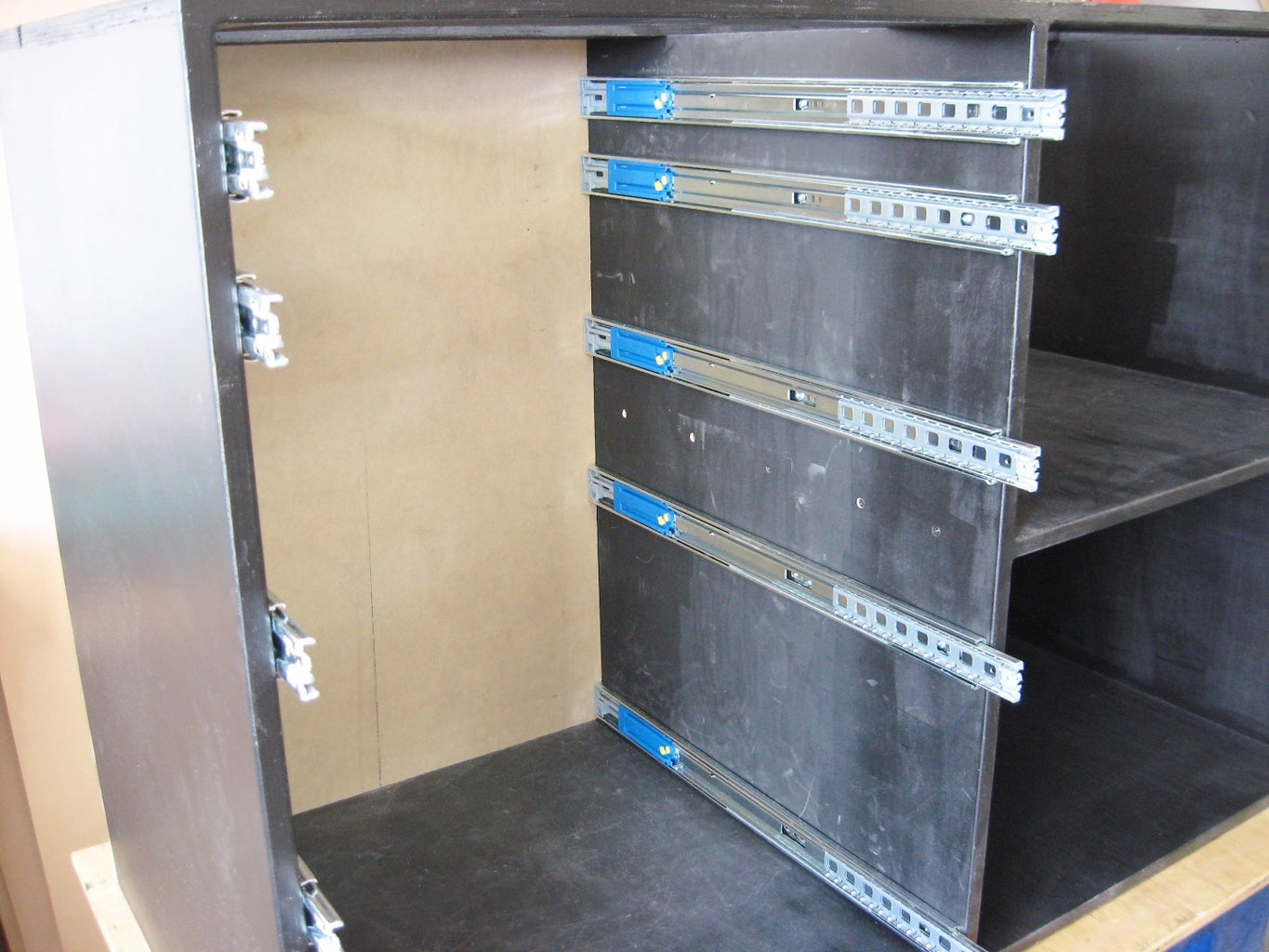 Install Drawer Guides in Cabinet Case