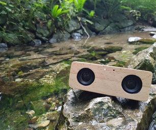 便携式蓝牙音箱由废木制成