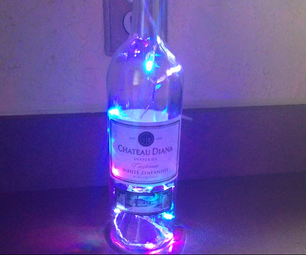 Use Your Special Wine Glass As a Beautiful Lighting Fixture
