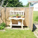Potting Bench From Pallet Wood