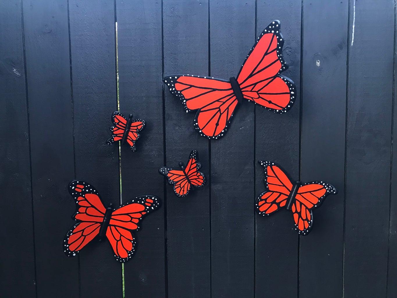 Monarch Butterfly Garden Art