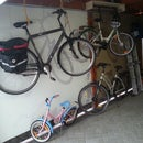 Bike Lift to Save Some Place.  Made of   Tubular Motors for Roller Shutters