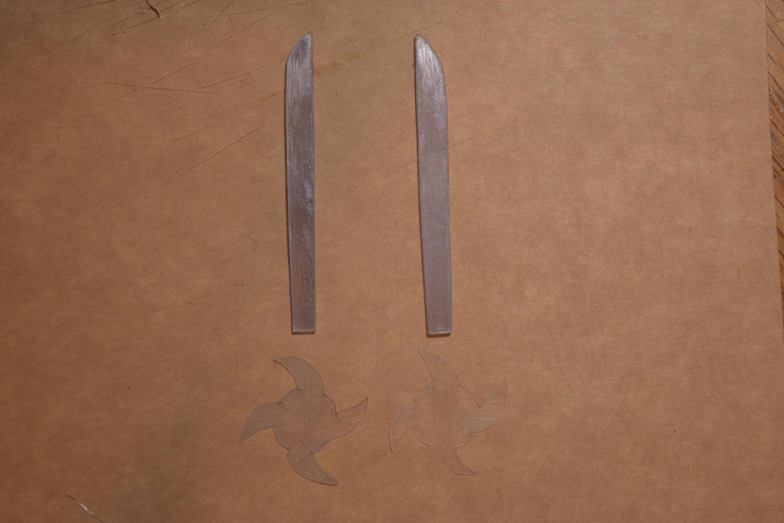 Miniature Dual Windcleavers (Sword Blades + Hand Guards)