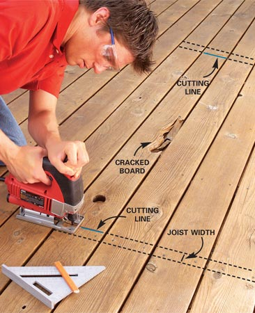Replace Broken Deck Boards