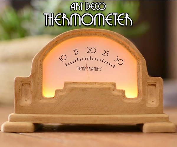 DIY Art Deco Analog Thermometer Using Arduino