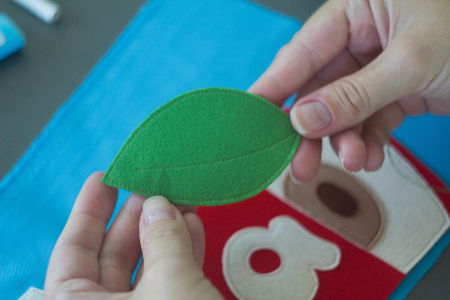 """Sew the Felt Elements Into the Fabric. Part """"A"""""""