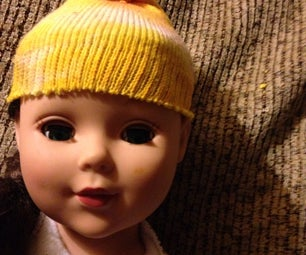 Easy No-Sew Doll Ski Cap