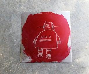 Laser Etched Robot
