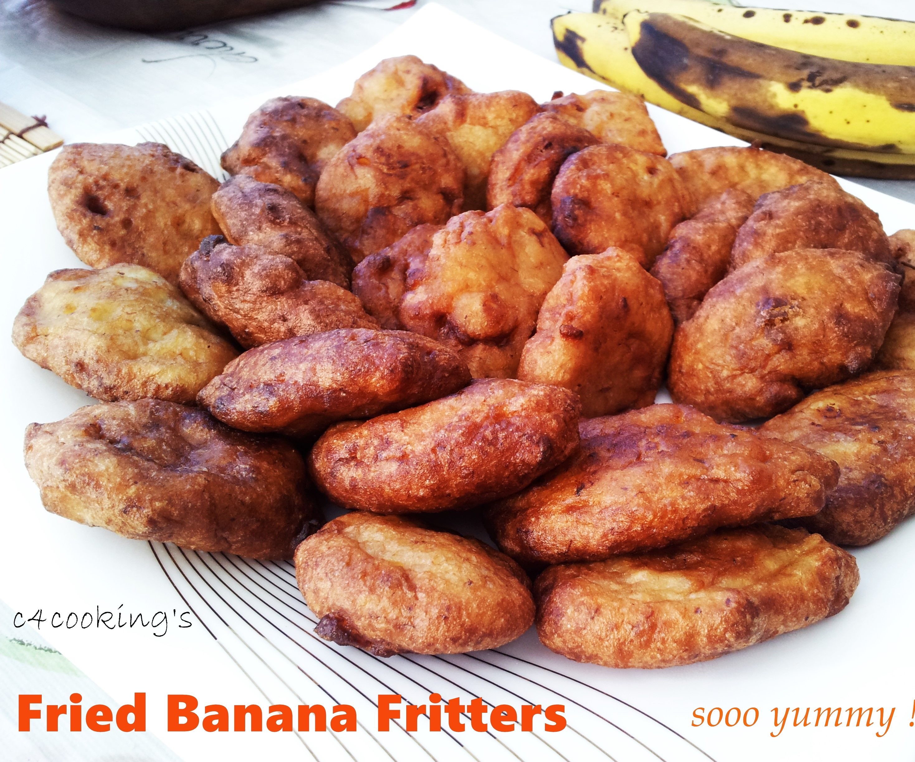 Fried Banana Fritters - Tasty Evening Snack !