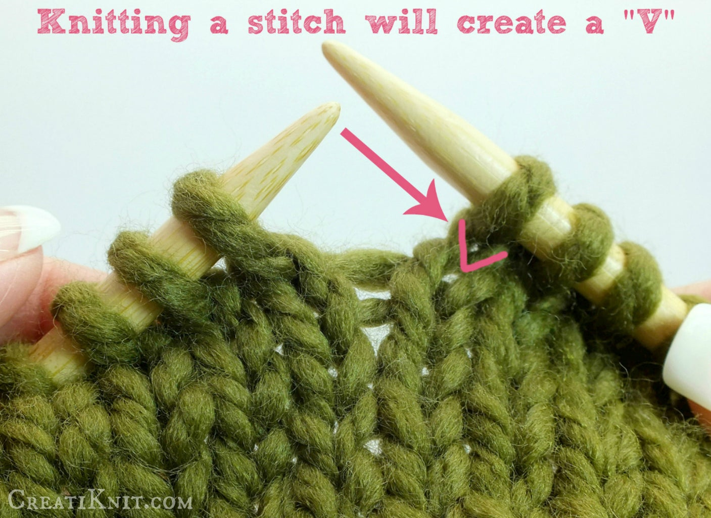 How to Do the Knit Stitch, and a Rhyme to Remember!