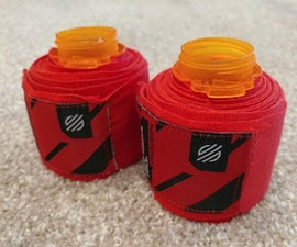DIY Boxing Hand Wrap Rollers