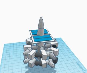 Space Habitat: a Rotating Spaceship (connectors)