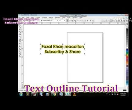 How to Text Outline in Coral Draw