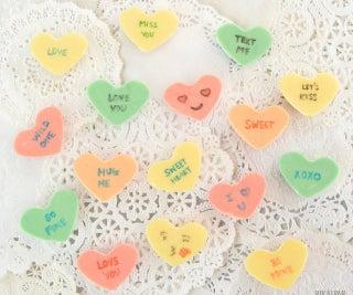 DIY Conversation Hearts Chocolate