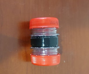 Soda Bottle and Duct Tape Storage Container