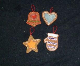 DIY Faux Gingerbread Ornaments