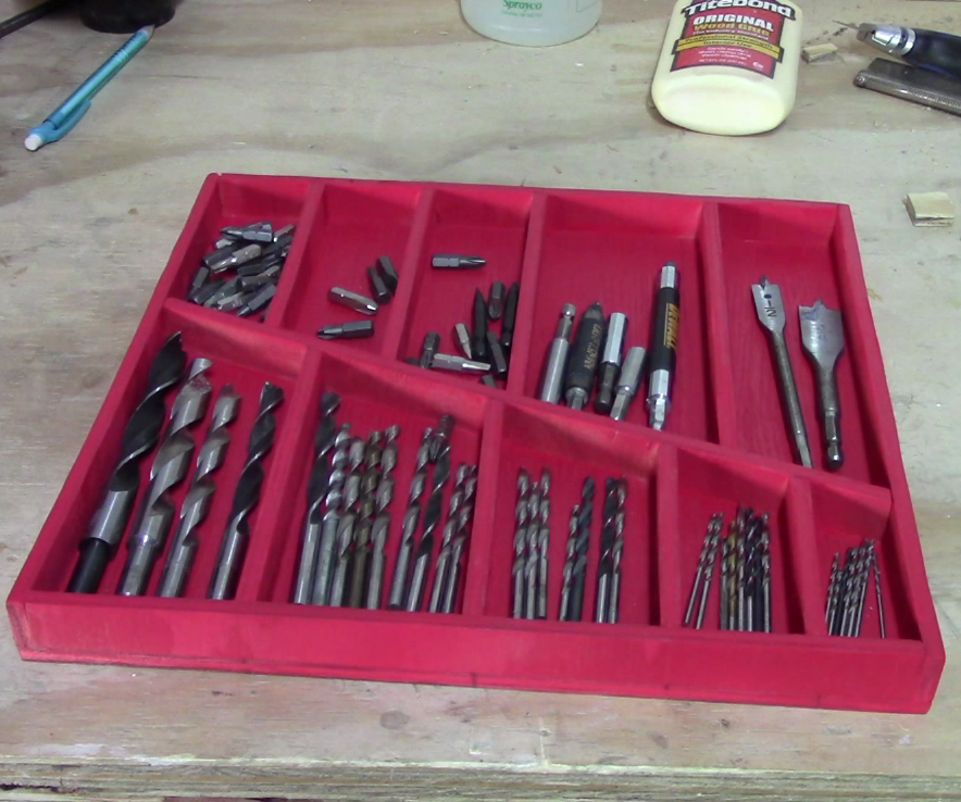 Shop Project - Make a Magnetic Tray for Drill Bit Storage