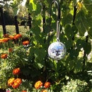 Key Hider in Reflective Garden Prism Globe - Beautiful AND Functional!