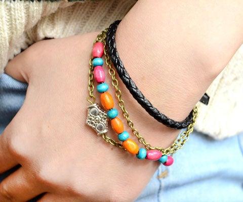Cool Boho Style Leather Bracelet