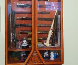Harry Potter Wand Display Case With Secret Door Latch