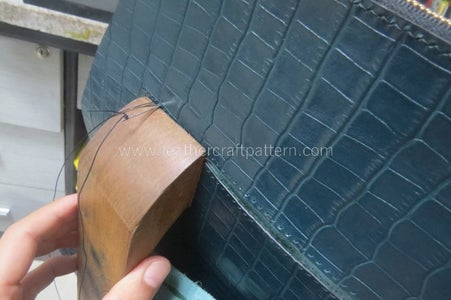 Sew This Stitching Line, the Surface and Lining Leather Will Be Sewn Together.
