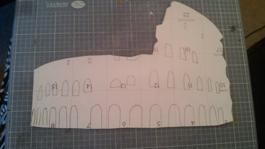 Flip Piece Over and Trace the Rest of the Stencil