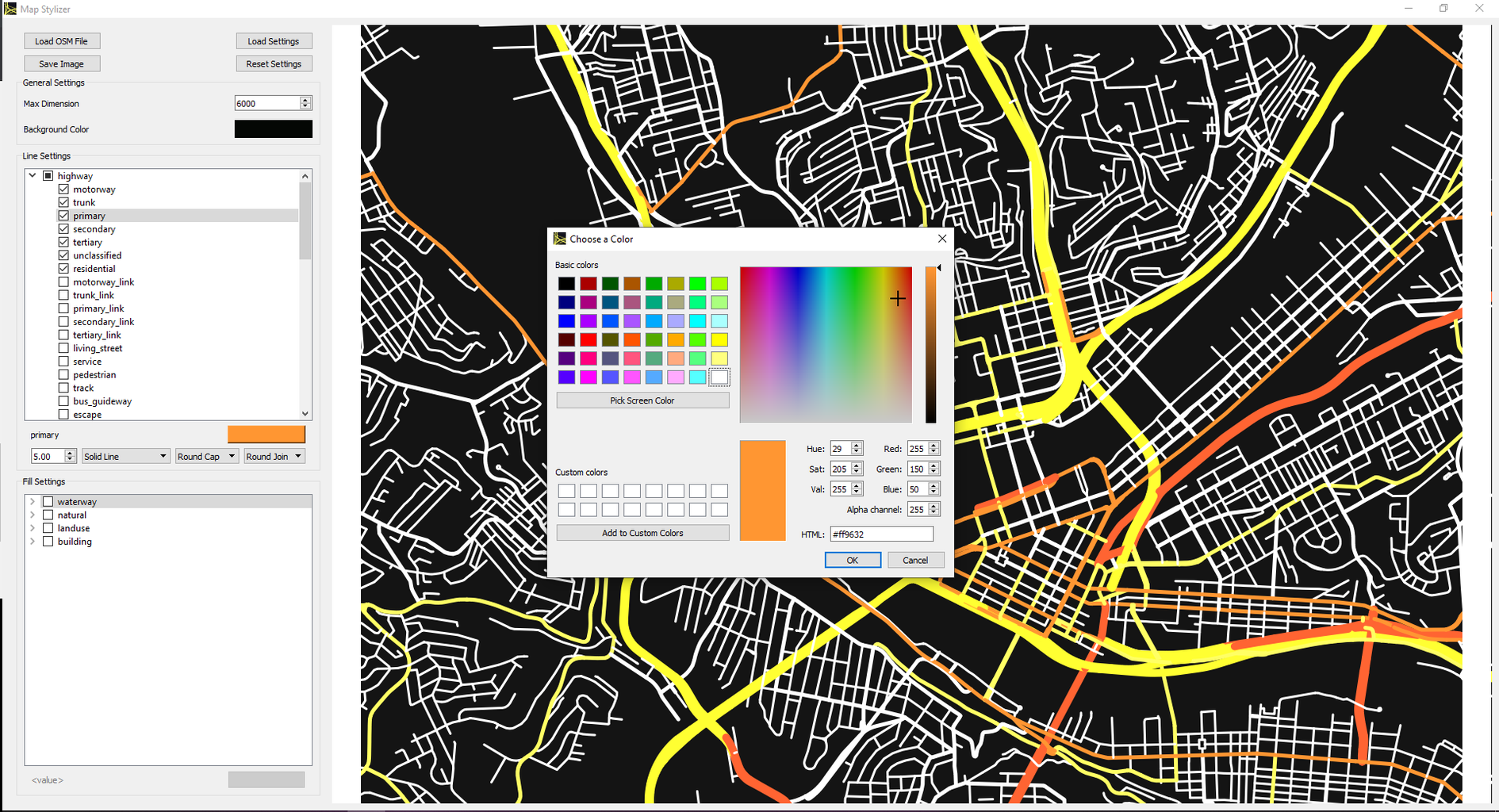 Python Map Stylizer Implementation