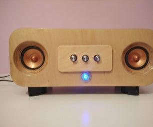 Wooden 2.1 Speakers