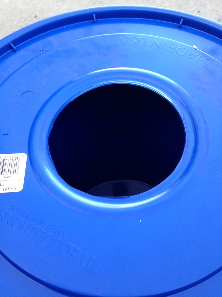 Cut the Hole in the Lid for the PVC