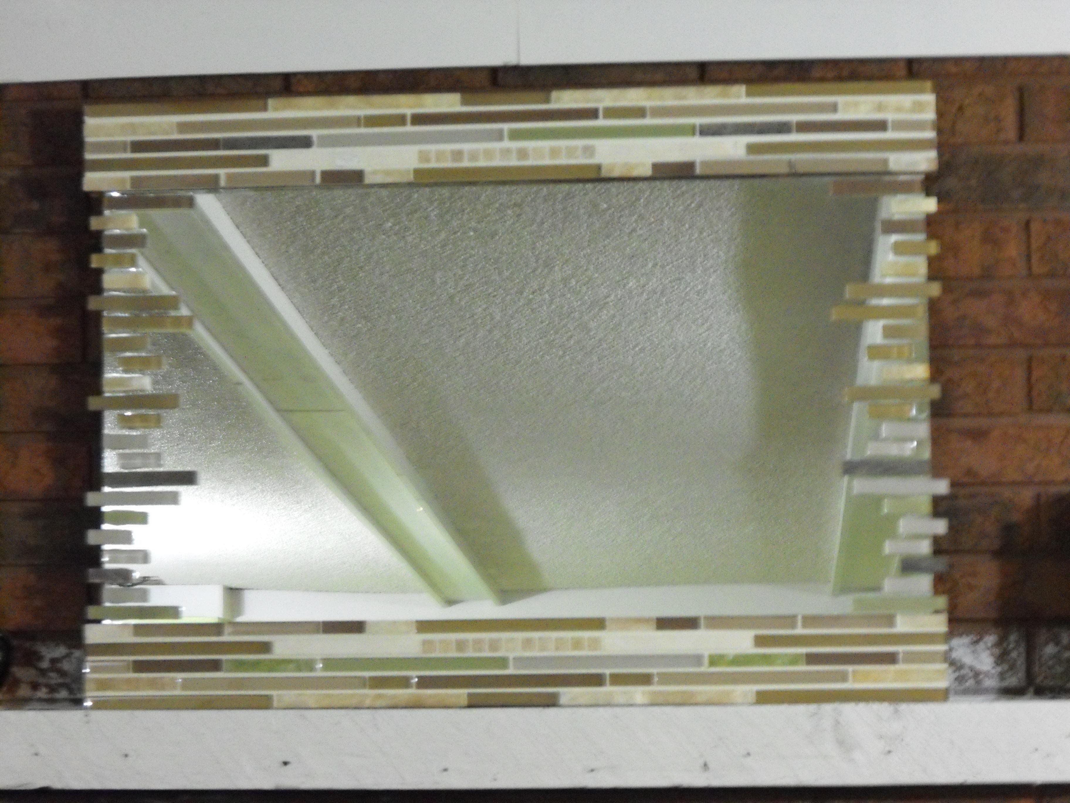Pallet mosaic mirror