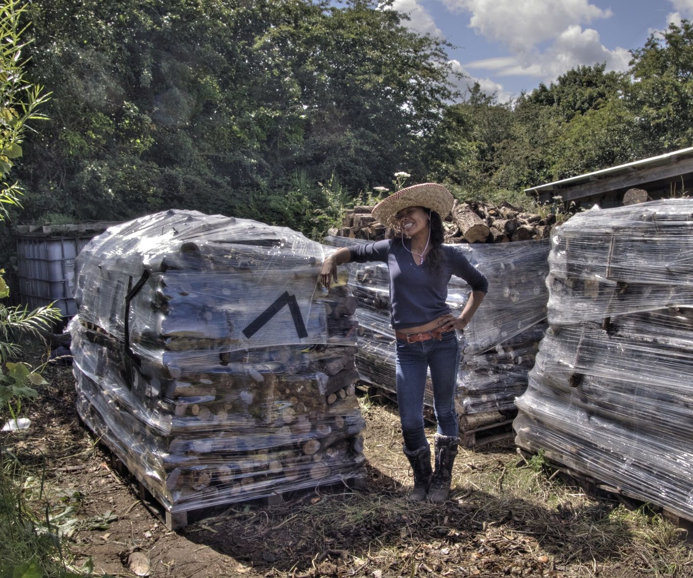 How to Stack and Ventilate Firewood with Pallet Wrap