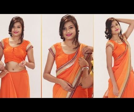 How To Wear A Saree Perfectly To look Slim, If You Are Fat - Ways to Wear Saree Without Losing Weight - Party Style