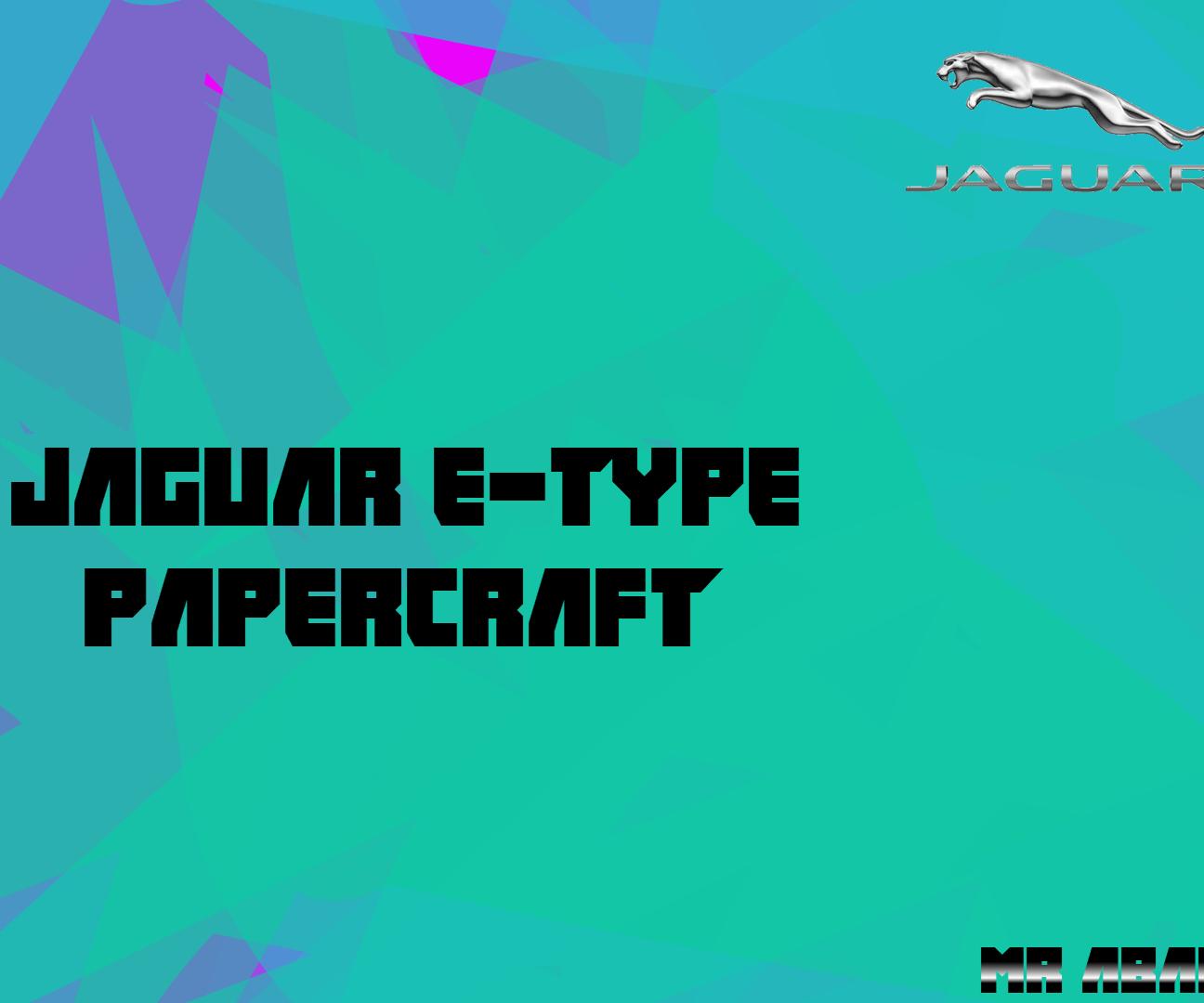 Jaguar E-Type PaperCraft